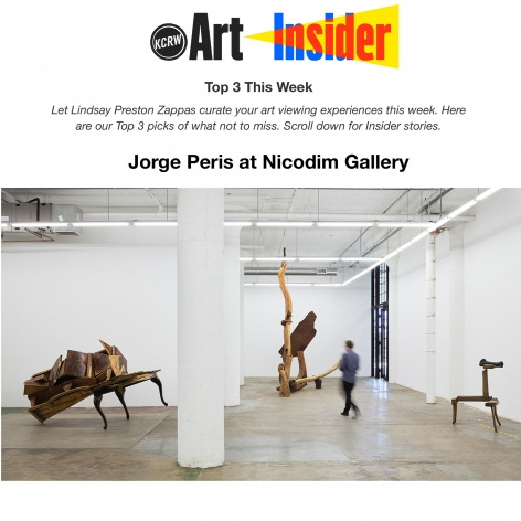 Jorge Peris at Nicodim in the Top 3 Exhibitions of the Week