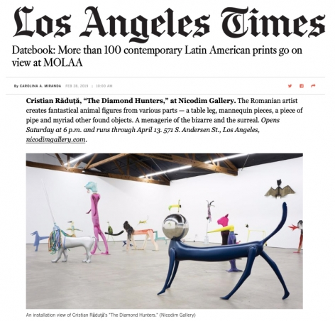 Cristian Raduta's The Diamond Hunters in the LA Times Datebook