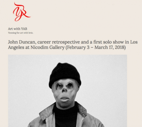 John Duncan's Career Retrospective at Nicodim Gallery