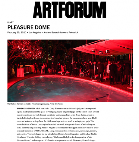 Pleasure Dome: Andrew Berardini around Frieze LA
