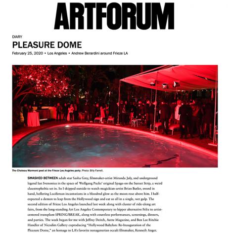 Pleasure Dome: Andrew Berardini around Frieze LA