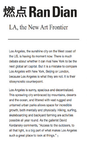 LA, the New Art Frontier