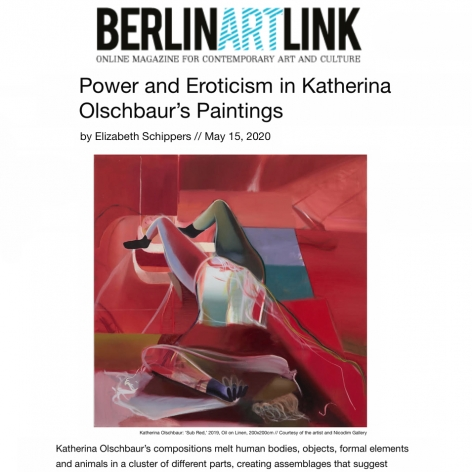 Power and Eroticism in Katherina Olschbaur's Paintings