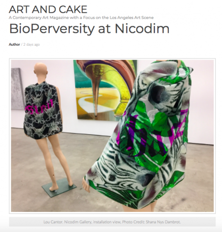BioPerversity reviewed by Shana Nys Dambrot in Art and Cake