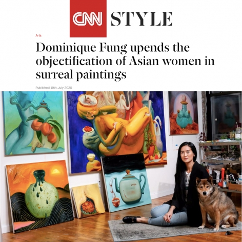 Dominique Fung Upends the Objectification of Asian Women in Surreal Paintings