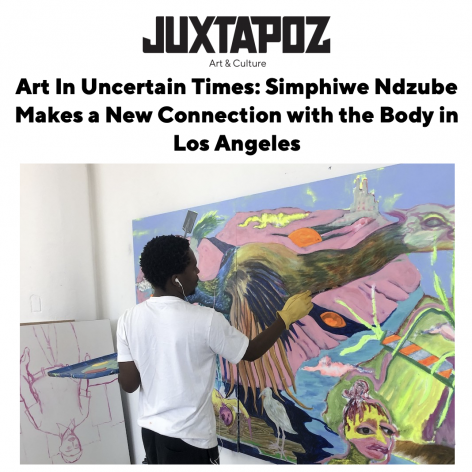 Art In Uncertain Times: Simphiwe Ndzube Makes a New Connection with the Body in LA