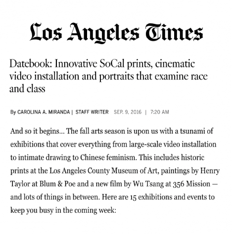 "The LA Times recommends Tong Kunnaoi, ""Why Don't You Eat Stinky Tofu"" at Nicodim Gallery"
