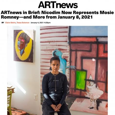 ARTnews in Brief: Nicodim Now Represents Mosie Romney
