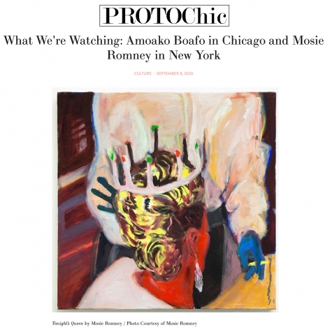 What We're Watching: Amoako Boafo in Chicago and Mosie Romney in New York