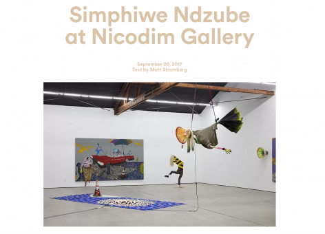 Simphiwe Ndzube at Nicodim Gallery