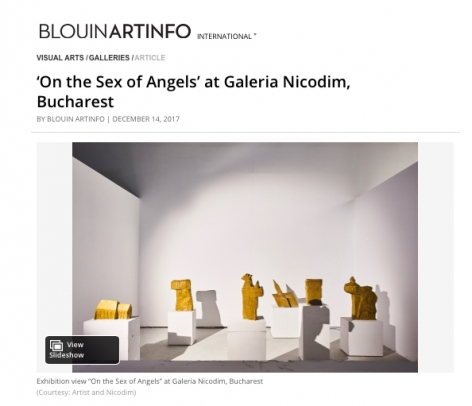 On the Sex of Angels featured in Blouin ArtInfo
