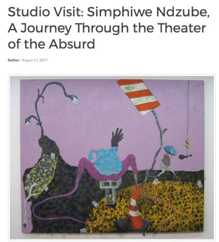 Studio Visit: Simphiwe Ndzube, A Journey Through the Theater of the Absurd