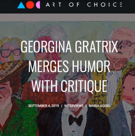 Georgina Gratrix Merges Humor with Critique