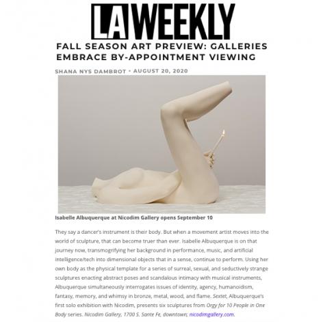 Fall Season Art Preview: Isabelle Albuquerque's 'Sextet'