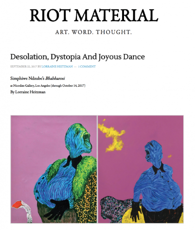 Desolation, Dystopia And Joyous Dance: Simphiwe Ndzube