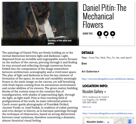 Daniel Pitin featured in LA Weekly
