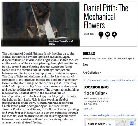 Daniel Pitin featured in LA Weekly