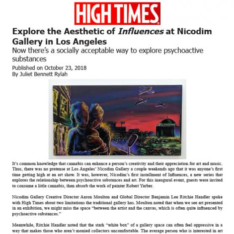 Explore the Aesthetic of Influences at Nicodim Gallery