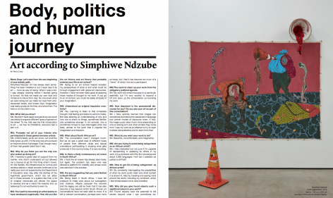 Body, Politics, and Human Journey: Art According to Simphiwe Ndzube