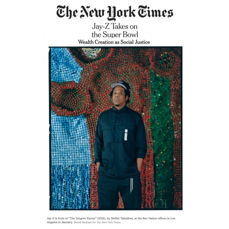 Moffat Takadiwa's Work Featured at Jay-Z's Roc Nation Offices in the New York Times