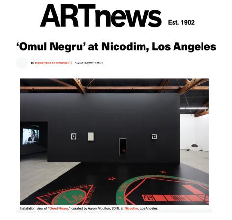 'Omul Negru' at Nicodim, Los Angeles