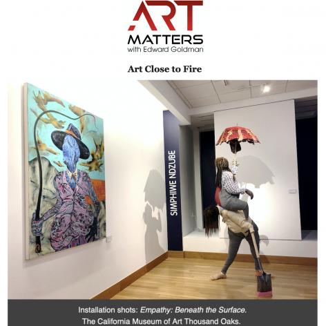 Simphiwe Ndzube featured in Edward Goldman's Art Matters