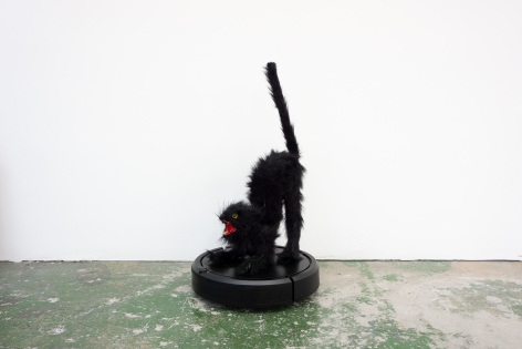 Mattia Biagi Bela 2019 Sculpture Nicodim Gallery Los Angeles Cat Roomba