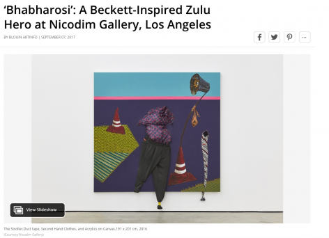 'Bhabharosi': A Beckett-Inspired Zulu Hero at Nicodim Gallery, Los Angeles