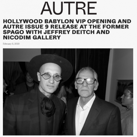 Hollywood Babylon and Autre Issue 9 Release at the Former Spago with Jeffrey Deitch and Nicodim