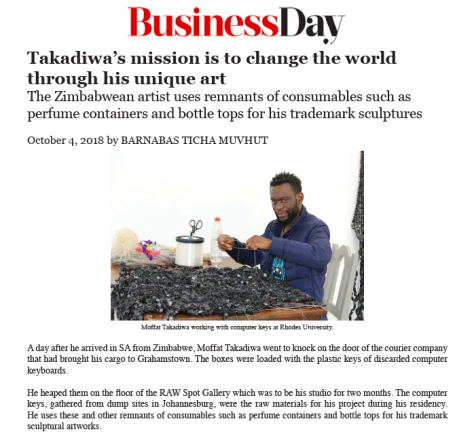 Takadiwa's mission is to change the world through his unique art