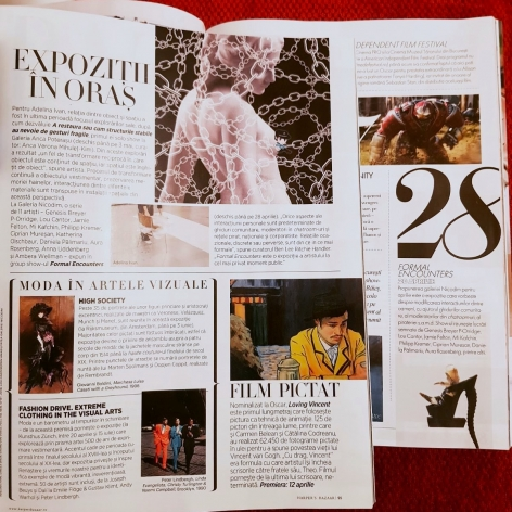 Formal Encounters featured in Elle Romania & Harper's Bazaar Romania
