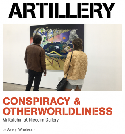 Conspiracy and Otherworldliness:  Mi Kafchin at Nicodim Gallery