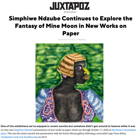 Simphiwe Ndzube Continues to Explore the Fantasy of Mine Moon in New Works on Paper