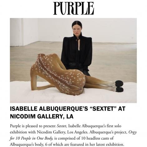 Isabelle Albuquerque's 'Sextet' at Nicodim