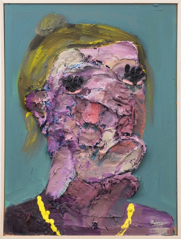 Georgina Gratrix Pre Nap Face (Portrait of the Artist) 2019 Painting Nicodim Gallery Los Angeles