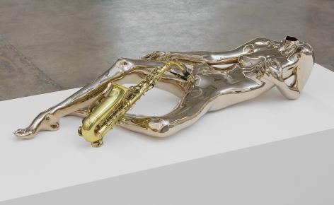 Isabelle Albuquerque Orgy For 10 People In One Body Leda and the Swan 2019 Bronze Sculpture Nicodim Gallery Los Angeles