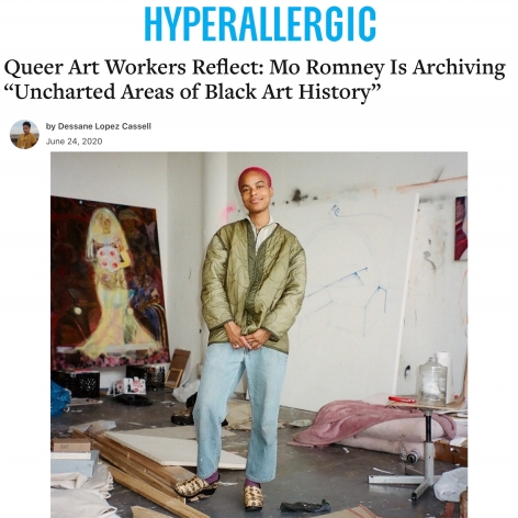 """Mo Romney Is Archiving """"Uncharted Areas of Black Art History"""""""