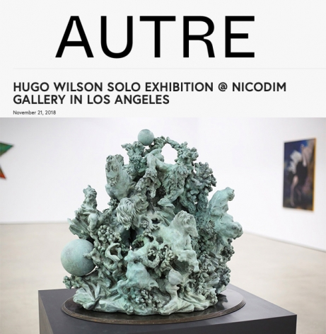 Hugo Wilson's Solo Show in Los Angeles featured in Autre