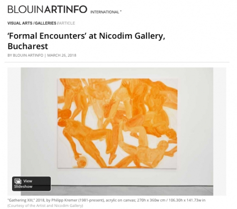 Formal Encounters featured in Blouin ArtInfo