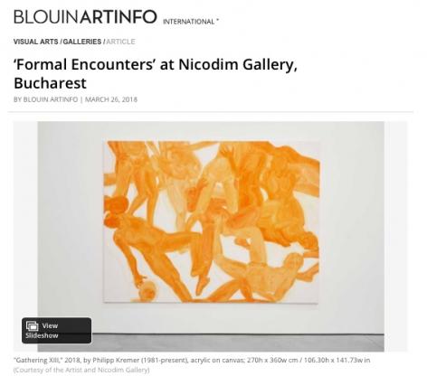 'Formal Encounters' at Nicodim Gallery in Bucharest