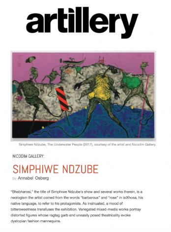 Nicodim Gallery: Simphiwe Ndzube