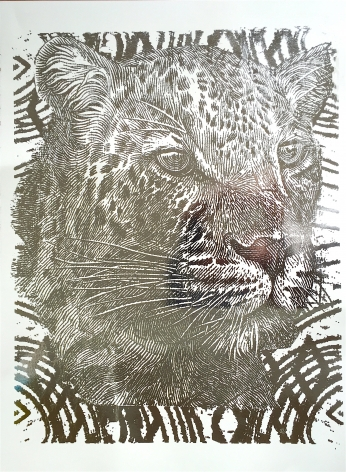 Silver Foil Cheetah
