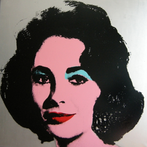 Charles Lutz - Andy Warhol - denied- painting - contemporary art - liz taylor
