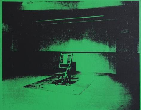 ELECTRIC CHAIR - PAINTING - WARHOL - DENIED - ANDY WARHOL