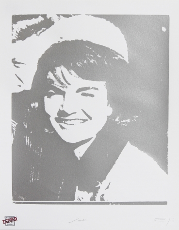 Charles Lutz - Contemporary Art - Jackie Kennedy - Andy Warhol - Limited Edition - Print - Denied