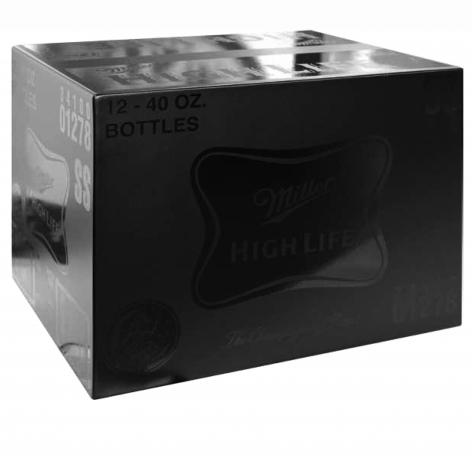 Charles Lutz - sculpture - contemporary art - modern art - pop art - Brillo box - black
