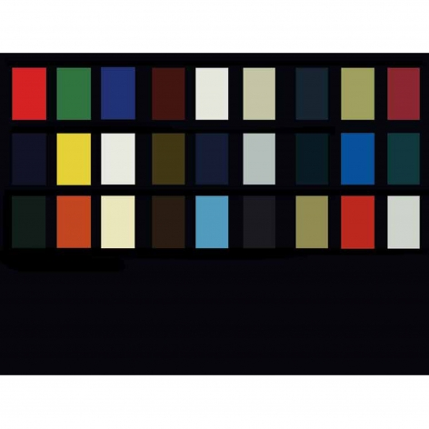 Charles Lutz - Contemporary Art - color - chart - painting