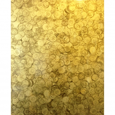 Charles Lutz - gold - painting - contemporary art