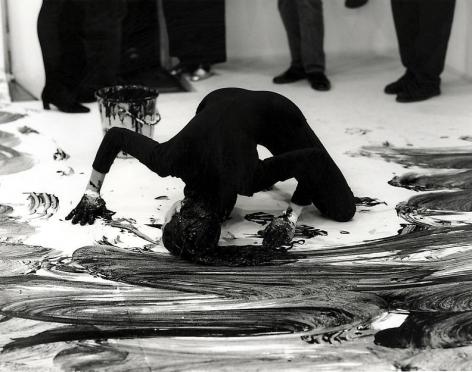 "ALT=""Janine Antoni, Loving Care, 2012, Performance with Loving Care hair dye Natural Black"""