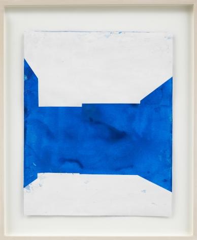 , Peter's Cobalt Blue Collage, 2007